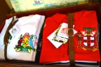 Travel luggage coats of arms west indies
