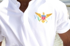 Iles Vierges polo shirt coats of arms